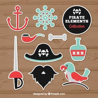 Pacote de adesivos pirata