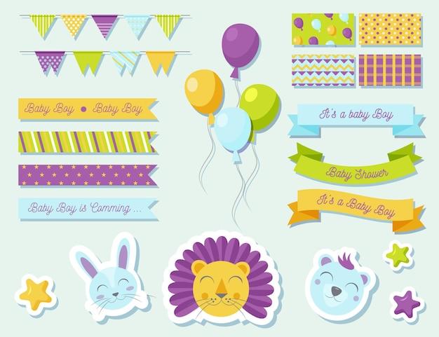Pacote de álbum de recordações para chá de bebê