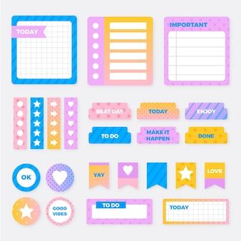 Pacote de álbum de recortes de planejador criativo