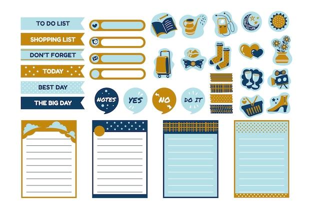 Pacote de álbum de recortes do planejador