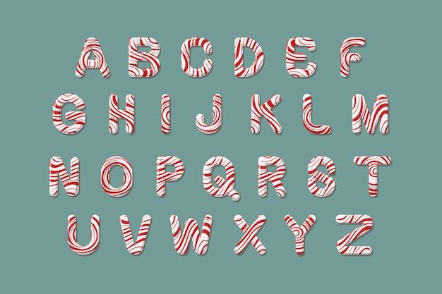 Pacote de alfabeto de natal com bastão de doces