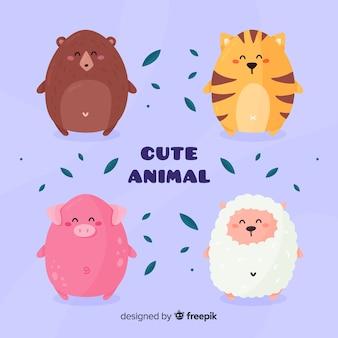 Pacote de animais fofos diferentes