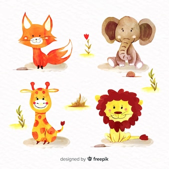 Pacote de animais fofos ilustrados