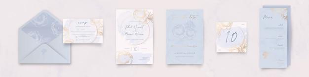 Pacote de artigos de papelaria de casamento de flores
