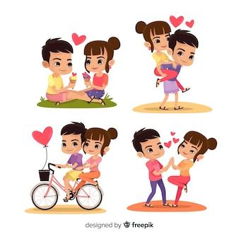 Pacote de atividades de casal de namorados