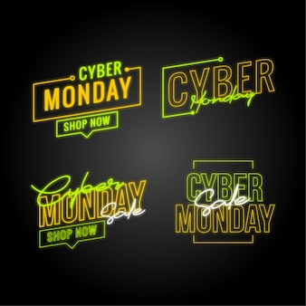 Pacote de autocolantes de segunda-feira do cyber