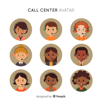 Pacote de avatar do call center