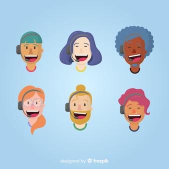 Pacote de avatares de call center