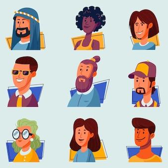 Pacote de avatares de pessoas