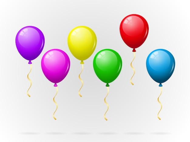 Pacote de balões coloridos