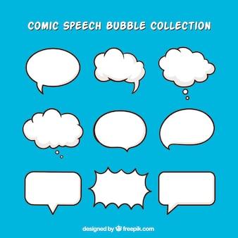 Pacote de balões de diálogo desenhados a mão