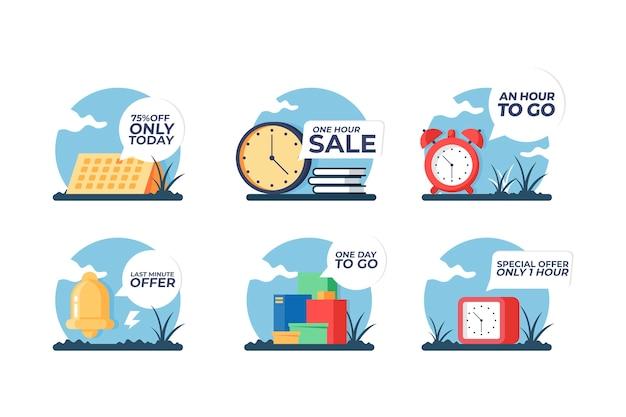 Pacote de banner de contagem regressiva de vendas