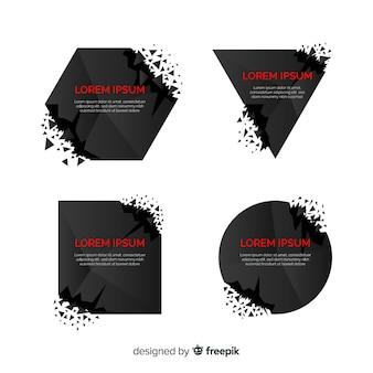 Pacote de banner de explosão escura