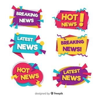 Pacote de banner de notícias mais recente colorido