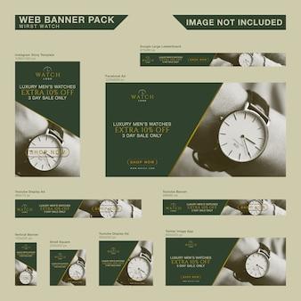 Pacote de banner de web de luxo