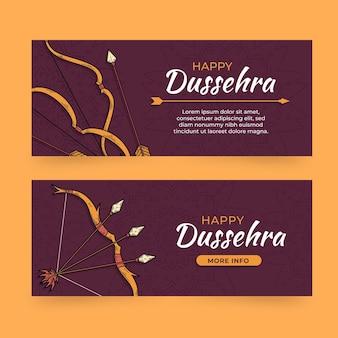 Pacote de banner do festival dussehra