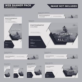 Pacote de banner web minimalista