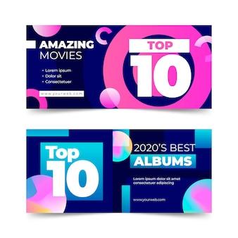 Pacote de banners de dez principais classificações