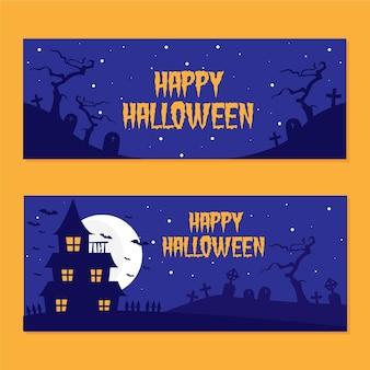 Pacote de banners de halloween