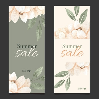 Pacote de banners de liquidação de verão