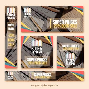 Pacote de banners de livros de venda