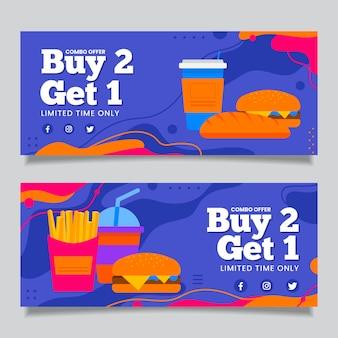 Pacote de banners de oferta de combinação