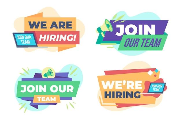 Pacote de banners de recrutamento coloridos