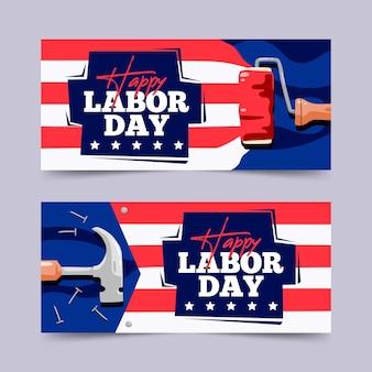 Pacote de banners do dia do trabalho
