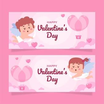 Pacote de banners do dia dos namorados