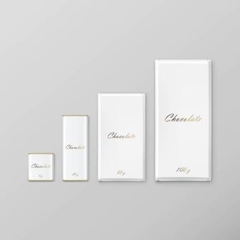 Pacote de barra de chocolate branco conjunto de embalagens