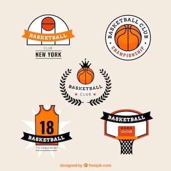 Pacote de basquete adesivos