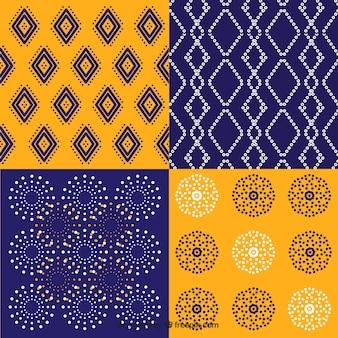 Pacote de batik padrões geométricos