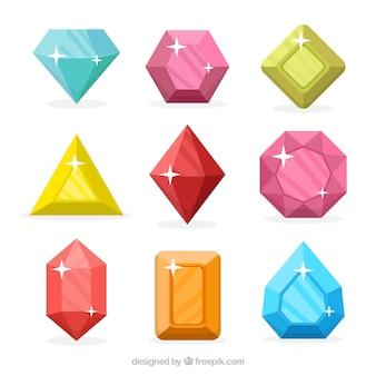 Pacote de belas pedras preciosas