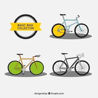 Pacote de bicicletas desenhadas a mão