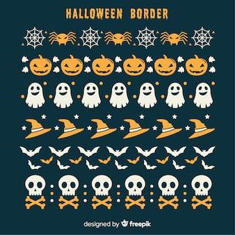 Pacote de borda de halloween criativo