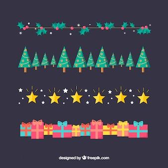 Pacote de bordas decorativas de natal