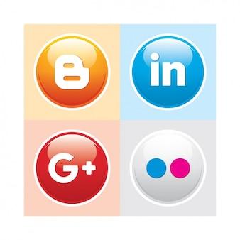 Pacote de botão de mídia social