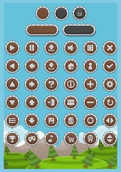 Pacote de botões de jogo rpg