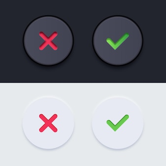 Pacote de botões realistas