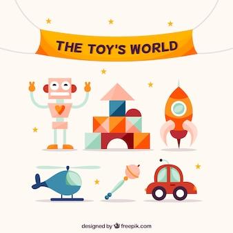 Pacote de brinquedos engraçados