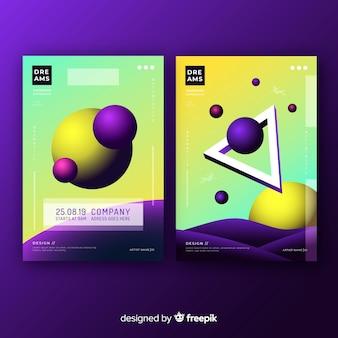 Pacote de brochura de formas flutuantes