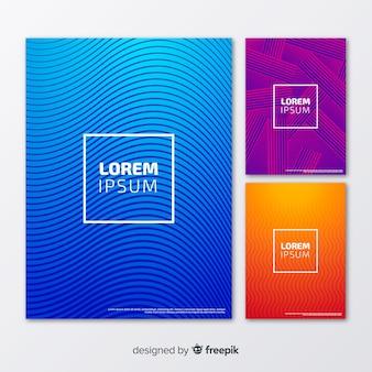 Pacote de brochura de linhas geométricas
