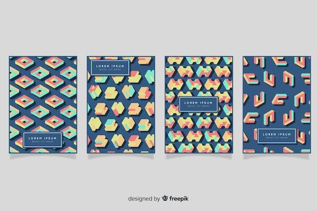 Pacote de brochura de padrão isométrico