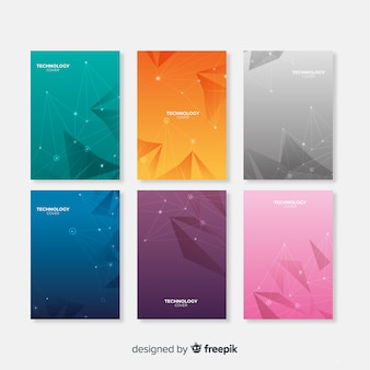 Pacote de brochura de tecnologia de gradiente