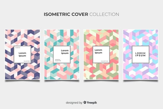 Pacote de brochura padrão colorido isométrico