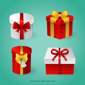 Pacote de caixas de presente de natal