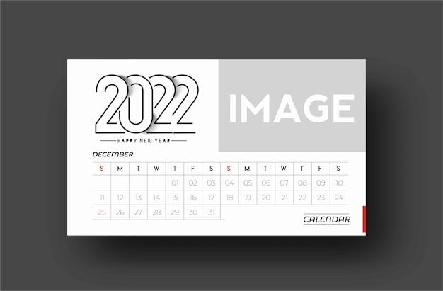 Pacote de calendário de feliz ano novo 2022 - elementos de design de feriado de ano novo para cartões de férias, cartaz de banner de calendário para decorações, fundo de ilustração vetorial.