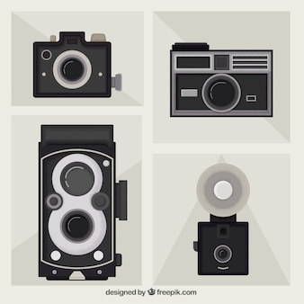 Pacote de câmaras planas de vintage