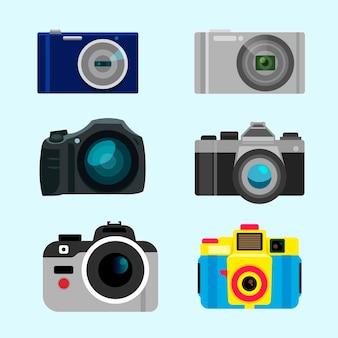 Pacote de câmeras digitais e polaroidas