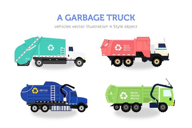 Pacote de caminhão de lixo